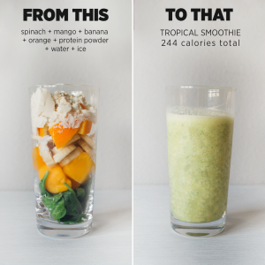 tropical smoothie, healthy smoothie