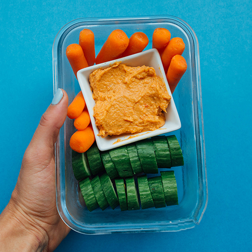 Healthy Snack Ideas: Hummus & Veggies