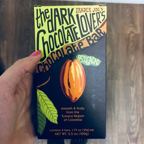 Dark Chocolate Bar 85% Raw Cacao