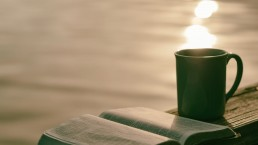 morning routine - coffee at sunset