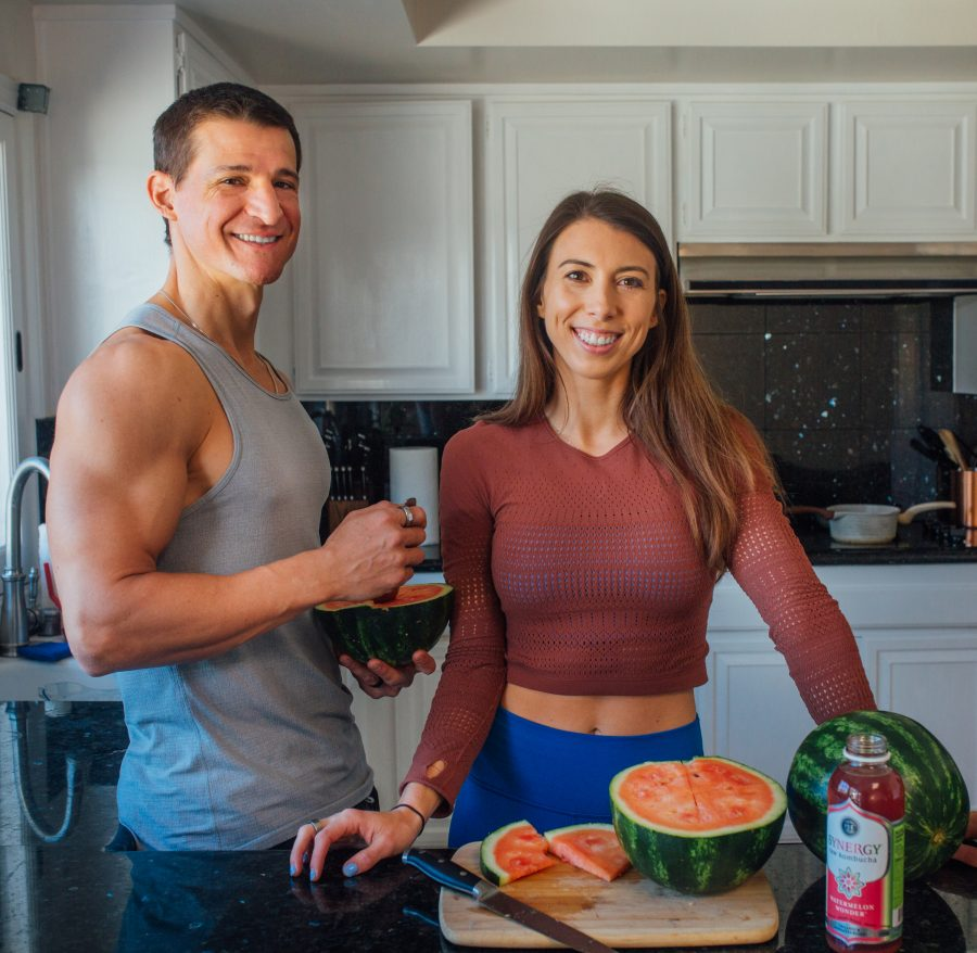 Chris & Amanda in the kitchen